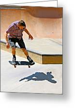 Skateboarding Greeting Card by Paul Fell