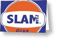 SLAM ONE GEAR Greeting Card by James Eye