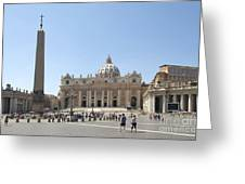 St Peter's Square. Vatican City. Rome. Lazio. Italy. Europe  Greeting Card by Bernard Jaubert