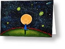 Starry Sky Greeting Card by Todd Young
