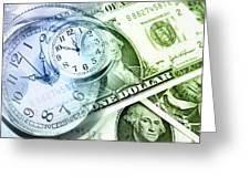 Time Is Money Greeting Card by Les Cunliffe