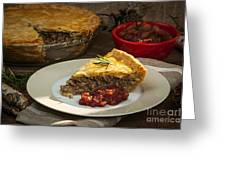 Tourtiere Meat Pie Greeting Card by Elena Elisseeva