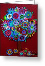 Tree Of Hope Greeting Card by Pristine Cartera Turkus