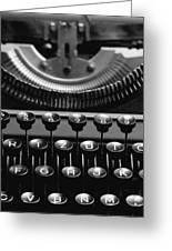 Typewriter Greeting Card by Falko Follert
