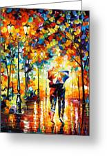 Under One Umbrella Greeting Card by Leonid Afremov