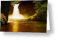 Upper Punch Bowl Falls Greeting Card by Jeff  Swan