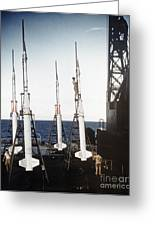 Us Navy Rockets 1958 Greeting Card by Granger