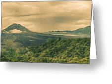 Volcano Batur Greeting Card by MotHaiBaPhoto Prints