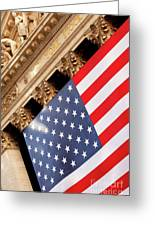 Wall Street Flag Greeting Card by Brian Jannsen