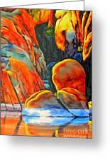 Watson Lake Greeting Card by Robert Hooper
