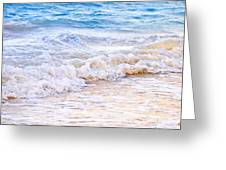 Waves Breaking On Tropical Shore Greeting Card by Elena Elisseeva