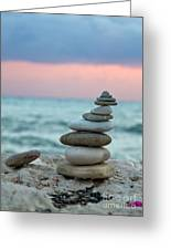 Zen Greeting Card by Stylianos Kleanthous