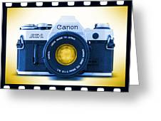 35mm Blues Canon Ae-1 Greeting Card by Mike McGlothlen