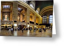 360 Panorama of Grand Central Station Greeting Card by David Smith