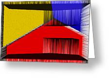 3D Abstract 1 Greeting Card by Angelina Vick