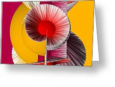 3D Abstract 18 Greeting Card by Angelina Vick