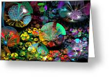 3d Bubble Garden Greeting Card by Peggi Wolfe