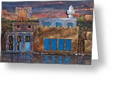3d Village Greeting Card by Amani Al Hajeri