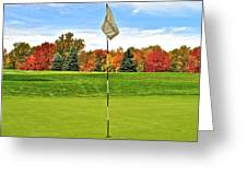 Autumn Golf Greeting Card by Frozen in Time Fine Art Photography