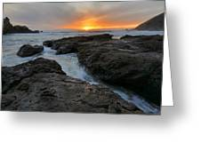 Big Sur Sunset Greeting Card by Stephen  Vecchiotti