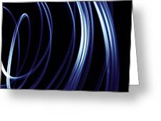 Blue Lines  Greeting Card by Les Cunliffe