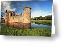 Caerlaverock Castle Greeting Card by Grant Glendinning