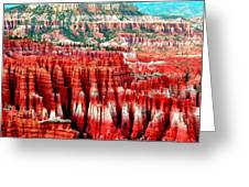 Canyon Greeting Card by Ernesto Cinquepalmi