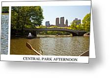 Central Park Afternoon Greeting Card by Madeline Ellis