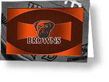 Cleveland Browns Greeting Card by Joe Hamilton
