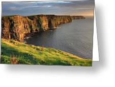 Cliffs Of Moher Sunset Ireland Greeting Card by Pierre Leclerc Photography