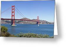 Golden Gate Bridge Greeting Card by Melanie Viola