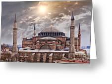 Hagia Sophia Istanbul Greeting Card by Sophie McAulay