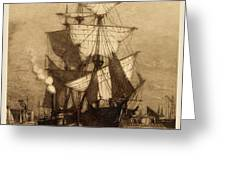 Historic Seaport Schooner Greeting Card by John Stephens
