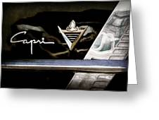 Lincoln Capri Emblem Greeting Card by Jill Reger