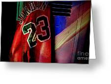Michael Jordon Greeting Card by Marvin Blaine