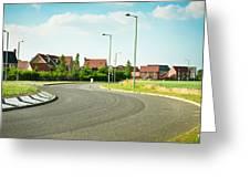 Modern Road Greeting Card by Tom Gowanlock