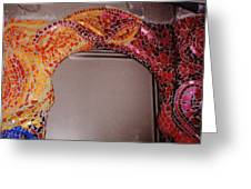 Mosaic Doorway Greeting Card by Charles Lucas