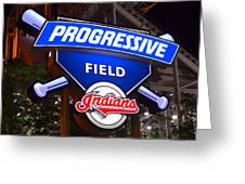Progressive Field Greeting Card by Frozen in Time Fine Art Photography