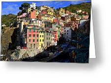 Riomaggiore Greeting Card by Barbara Walsh