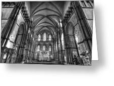 Rochester Cathedral Interior Hdr. Greeting Card by David French