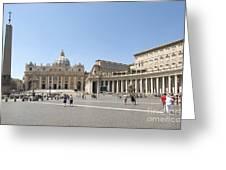 St Peter's Square. Vatican City. Rome. Lazio. Italy. Europe  Greeting Card by Bernard Jaubert
