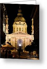 St. Stephen's Basilica In Budapest Greeting Card by Michal Bednarek