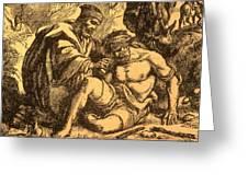 The Good Samaritan Greeting Card by English School