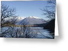 Alpine Lake Greeting Card by Mats Silvan