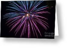 4th Of July 2014 Fireworks Bridgeport Hill Clarksburg Wv 1 Greeting Card by Howard Tenke