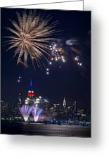 4th Of July Fireworks Greeting Card by Eduard Moldoveanu