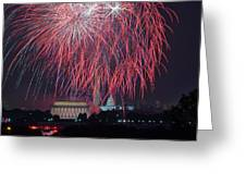 4th of July Fireworks Greeting Card by Mark Whitt