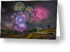 4th Of July In Houston Texas Greeting Card by Micah Goff