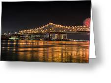 4th Of July Over The Big Easy Part Deaux Greeting Card by David Morefield