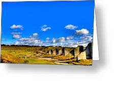 #18 At Chambers Bay Golf Course  Greeting Card by David Patterson